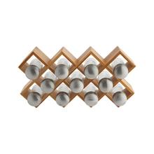 Achat en ligne Support à épices en bambou 11 compartiments 36.5x8x18.7cm