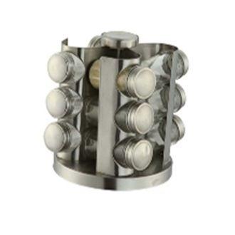 Carroussel à épices en métal 12 pots17x17x20cm