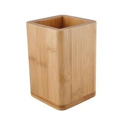 compra en línea Bote o portautensilios de cocina de bambú (10 x 10 x 13 cm)