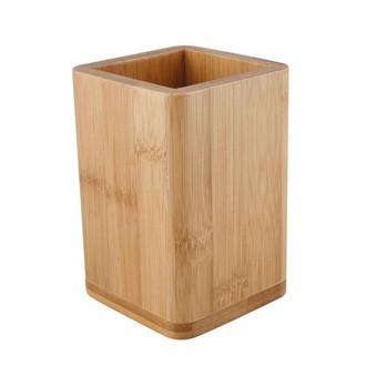 Pot à ustensiles en bambou 10x10x13cm