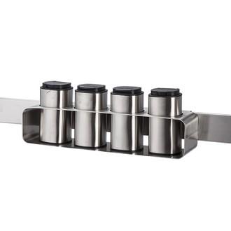 Support pour pot à épices 4 rangements en métal 28.2x8.5x6cm