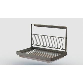Etagère de rangement pour assiettes en métal 27x25x24.5cm