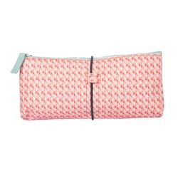 Achat en ligne Trousse de toilette en coton enduit corail 22x2.5x10cm