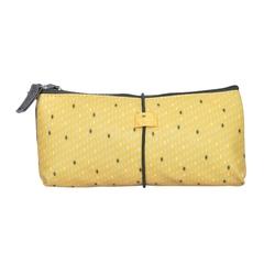 Achat en ligne Trousse de toilette en coton enduit jaune  22x2.5x10cm