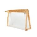 Trousse in tela beige 20x5x14cm