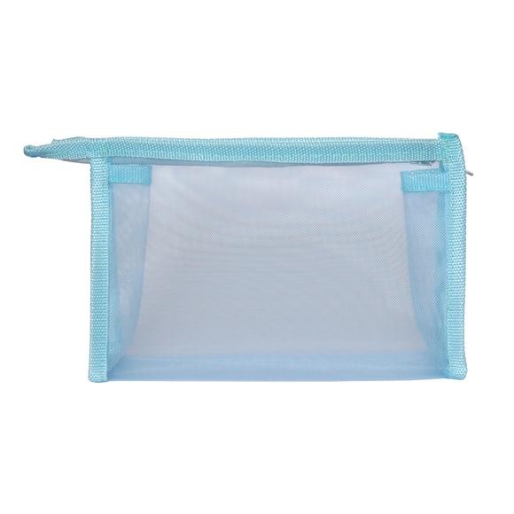 Achat en ligne Trousse de toilette en toile bleue 20x5x14cm