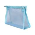 Trousse de toilette en toile bleue 20x5x14cm