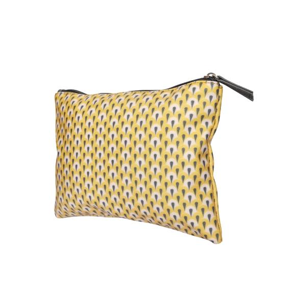 Achat en ligne Trousse de toilette en coton enduit jaune 22x15cm