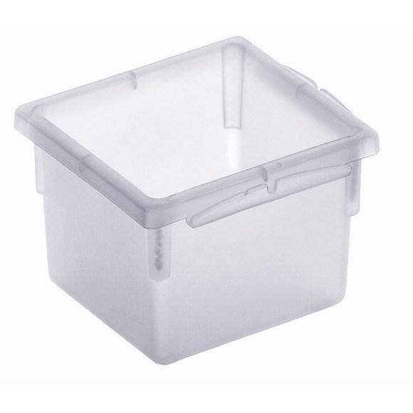 Porta posate per cassetti in plastica trasparente 8x8cm