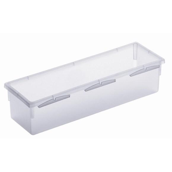 Porta posate per cassetti in plastica trasparente 23x8cm