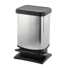 Achat en ligne Poubelle à pédale rect plastique effet métal Paso 20L