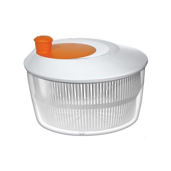 acquista online Centrifuga per insalata in plastica arancione/rosso/blu Ø 26cm