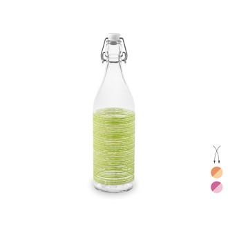 Bouteille en verre avec rayures 1L