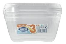 Achat en ligne Lot de 3 boites carées en plastique Nuvola Acqua 1,15L