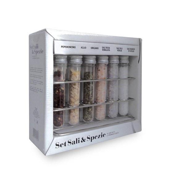 Servi-épices de 6 tubes à épices 100g