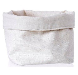 Achat en ligne Grand panier à pain coton beige 18x18cm