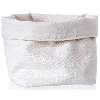 Grand panier à pain coton beige 18x18cm