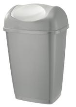 Achat en ligne Poubelle basculante rectangulaire en plastique gris 50L