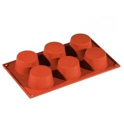 Achat en ligne Moule à 6 muffins ou cupcakes en silicone 30x17,5cm