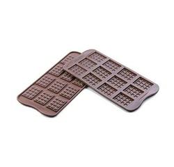 compra en línea Molde para 12 mini tabletas de chocolate de silicona Silikomart