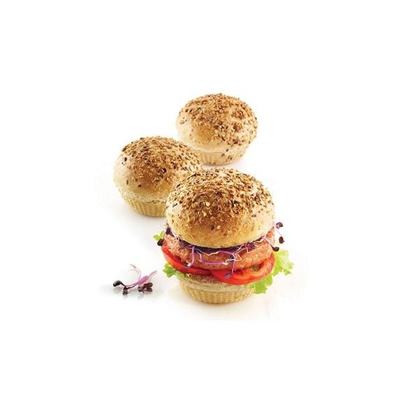 Achat en ligne Moule à pain burger en silicone 20x34cm