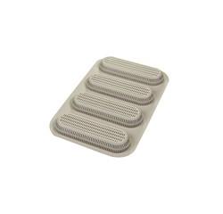 compra en línea Molde para 4 pulguitas o mini baguettes de silicona (34 x 20 cm)