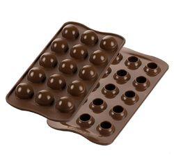 compra en línea Molde para bombones en forma de esferas Silikomart