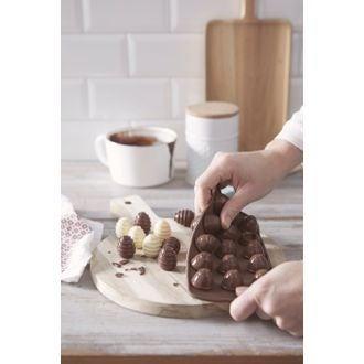 Moule chocolat 3d spiral en silicone 24x11cm