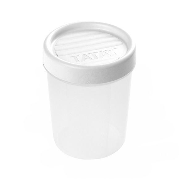 Boite de conservation avec couvercle à vis en plastique 0,4L