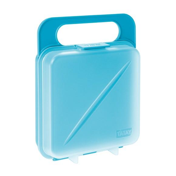 Boîte de conservation pour sandwich bleue