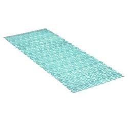 acquista online Tappetino doccia antiscivolo lungo blu 36x97cm