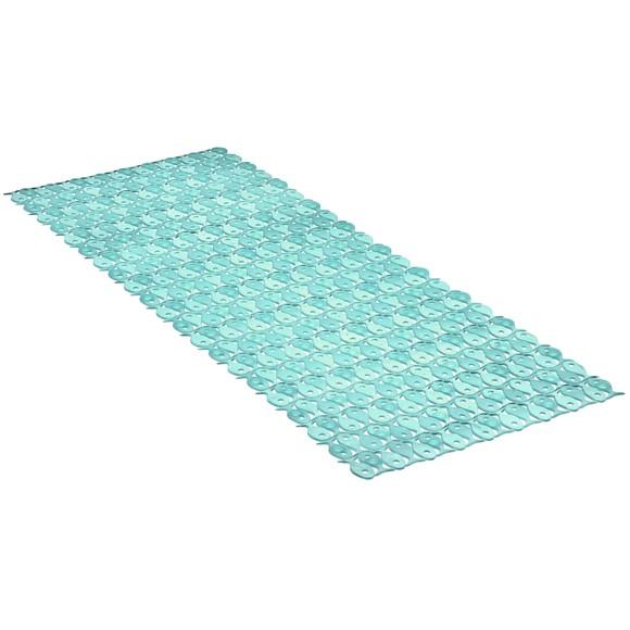 Tappetino doccia antiscivolo lungo blu 36x97cm