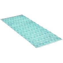 Achat en ligne Tapis de douche antiderapant -long bleu 36x97cm