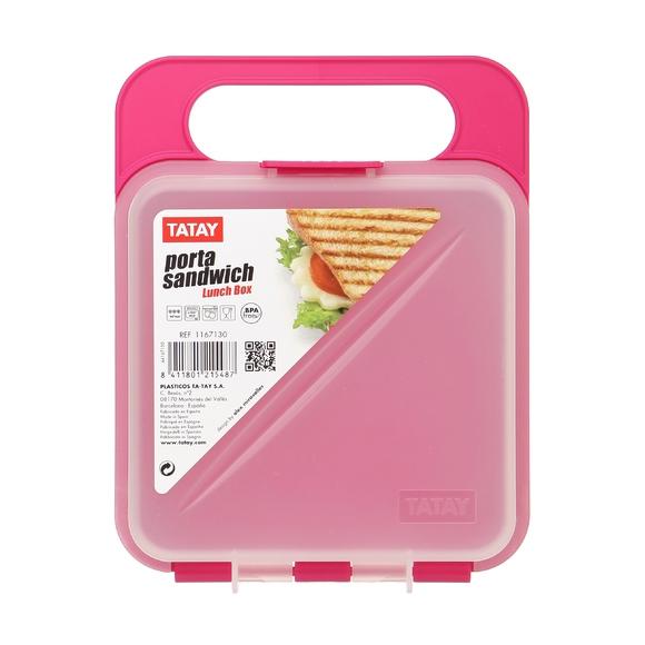 Boîte de conservation pour sandwich rose