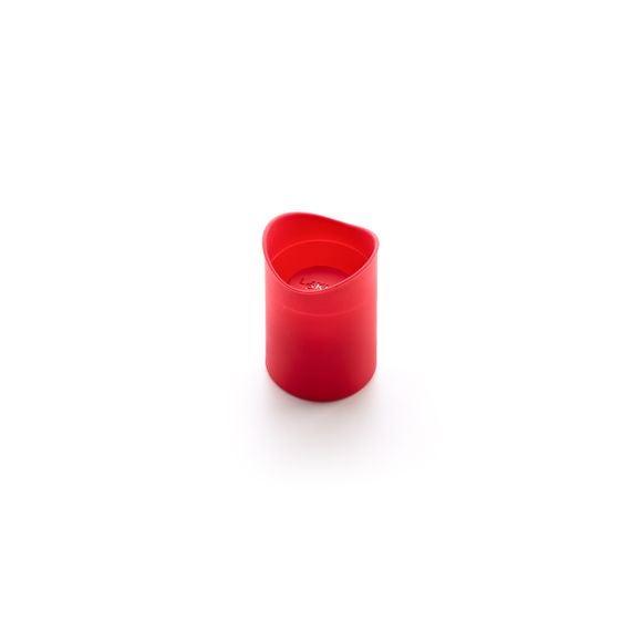 Stampi dolcetti in silicone rosso, 8 pezzi