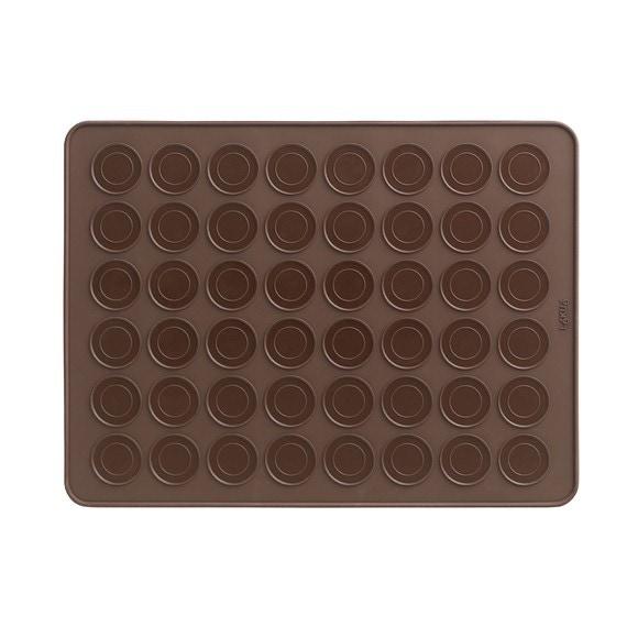 Piastra per 48 macaron in silicone 40x30cm
