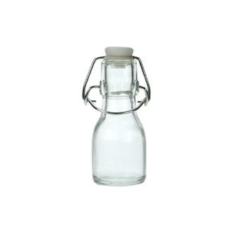 Mini bouteille de limonade en verre transparent