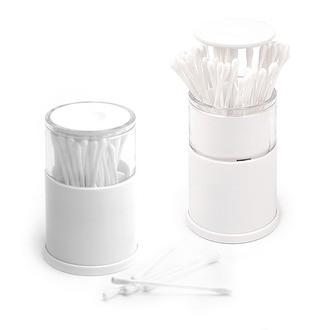 BALVI - distributeur à coton-tiges blanc