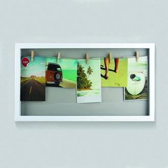 BALVI - Cadre vitrine blanche - 5 vues 10x15cm