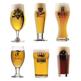 Set de 6 verres à bière hedoniste 50cl