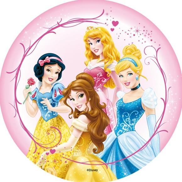 Disque de décoration en sucre Princesse 16cm 48g