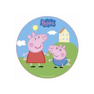 PATISDECOR - Disque de décoration en sucre Peppa Pig 16cm