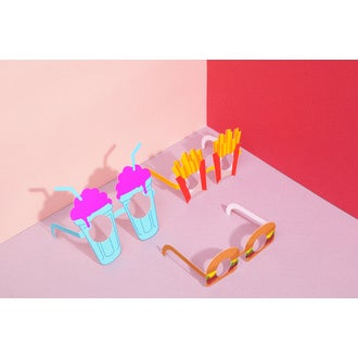 Set de 10 lunettes de soirée Folie