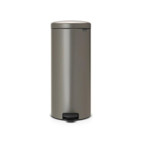 Poubelle à pédale newIcon 30 litres inox platine
