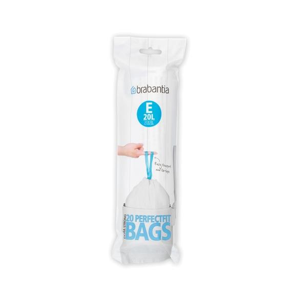 Lot 20 sacs poubelle perfectfit E 20 litres
