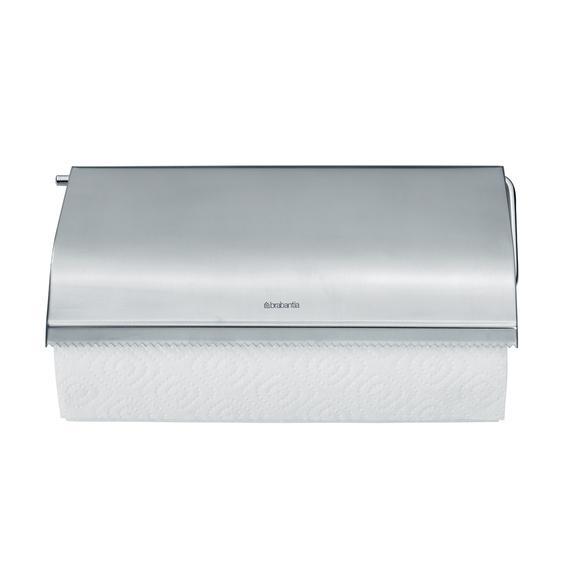 Dispenser da parete per rotolo asciugatutto in inox