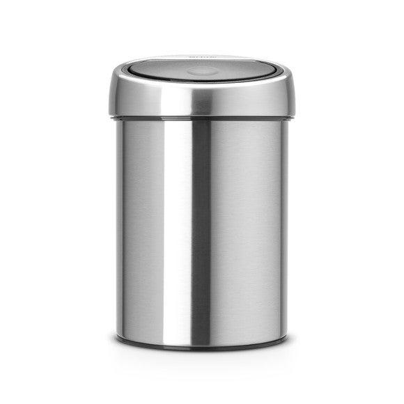 Achat en ligne Poubelle touchbin en acier brossé 3 litres