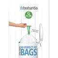 Dispenser 40 sacchetti in plastica bianca per pattumiera 30L