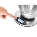 Bilancia da cucina elettronica tonda in acciaio con timer 5kg
