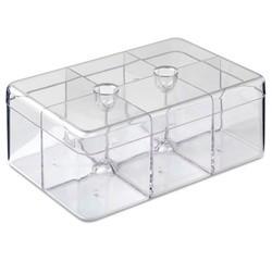 Achat en ligne Boîte à thé 6 compartiments en plastique